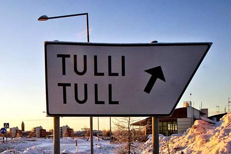 Suomen ja Ruotsin välinen raja Torniossa.