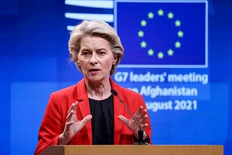 Euroopan komission puheenjohtaja Ursula von der Leyen pitää keskiviikkona Euroopan unionin tilaa käsittelevän puheen.