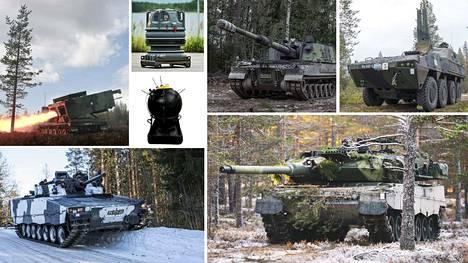 Muun muassa nämä armeijan ajoneuvot ja aseet ovat mukana tunnistusvisassa. Voit testata tietosi tässä jutussa. Visassa on yhteensä 26 kuvaa armeijan kalustosta.