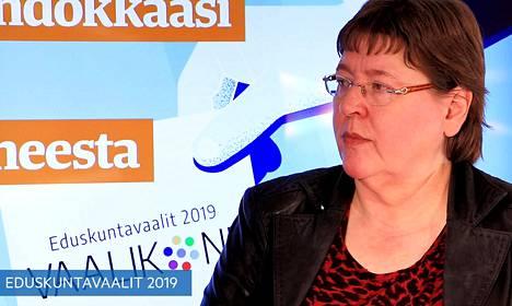 Eduskuntavaaliehdokas Eija Saarenmaa.