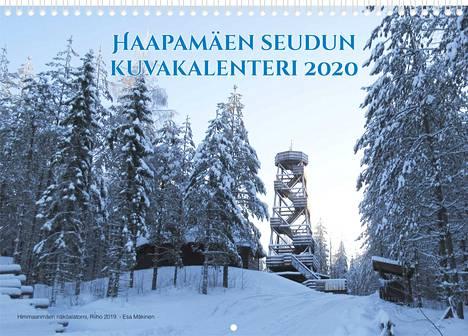 Kalenterin kantta somistaa Himmaanmäen näköalatorni, Riiho. Kuva: Esa Mäkinen.