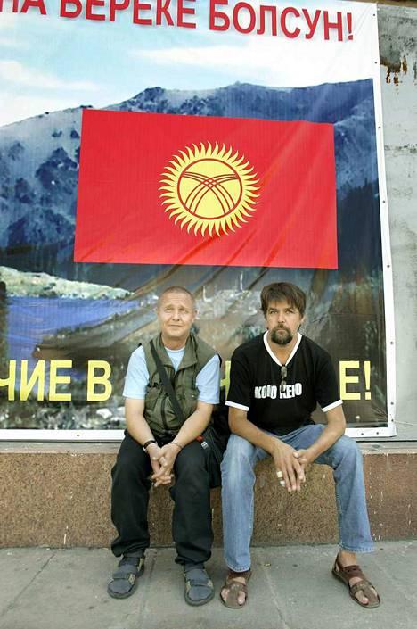 Raine Lehtoranta ja Matti Kuusela vaelsivat Mannerheimin jalanjäljillä Bakusta Pekingiin. Kuva on Kirgisiasta huhtikuulta 2006.