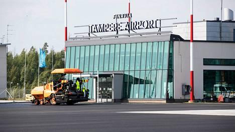 Tällä hetkellä Finnair ei lennä Tampere-Pirkkalan lentoasemalta. Tältä lentoasemalla näytti vuonna 2018, kun lentoaseman remontti oli loppumetreillä.
