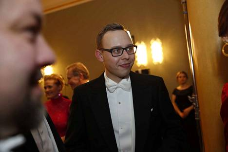 Raumalainen kansanedustaja Matias Marttinen oli ensimmäisissä Linnan juhlissaan