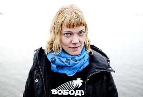 Ympäristöaktivisti Sini Saarela opiskeli Kankaanpään lukiossa vuosituhannen vaihteessa. Arkistokuva vuodelta 2014.