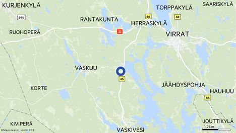Onnettomuus sattui Vaskuuntien ja Vaskivedentien risteyksessä Virroilla.