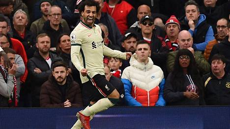 Mohamed Salah juhli hattutemppua sunnuntaina.