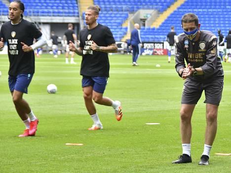 Leeds United valmistautumassa otteluaan varten. Arkistokuva.