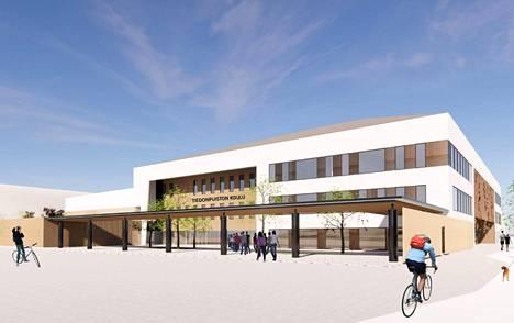 Raisioon suunnitellaan parhaillaan Tiedonpuiston yhtenäiskoulua. Kuvituskuva.