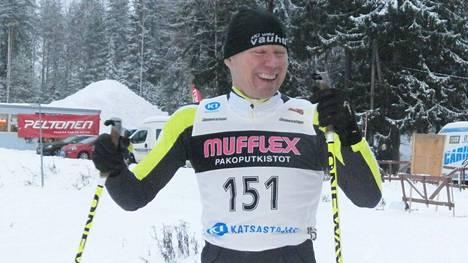 M50-sarjalainen Kisailijoiden Arto Nissinen oli Äänekoskella sarjakakkonen. Arkistokuva.