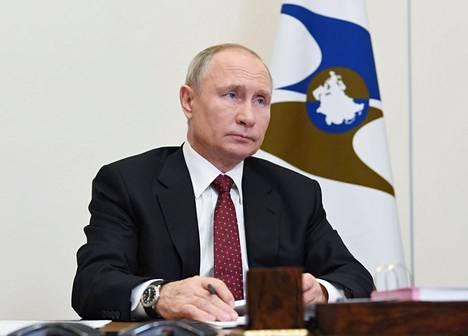 Vladimir Putin osallistui Euraasian talousliiton videokonfersenssiin 11. joulukuuta 2020.