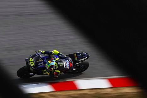 Valentino Rossi vauhdissa Sepangin radalla Malesiassa 9. helmikuuta. Kuvituskuva.