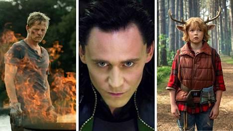 Olisiko jokin näistä sarjoista sellainen, johon voisit koukuttua tänä kesänä? Paha ui paratiisiin, Loki ja Sweet Tooth ovat kaikki tämän kesän uutuuksia.