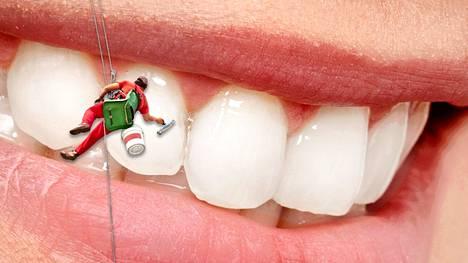 Yhdessä millilitrassa sylkeä on kymmeniä miljoonia mikrobeja, hampaan pinnalla jopa satoja miljoonia.