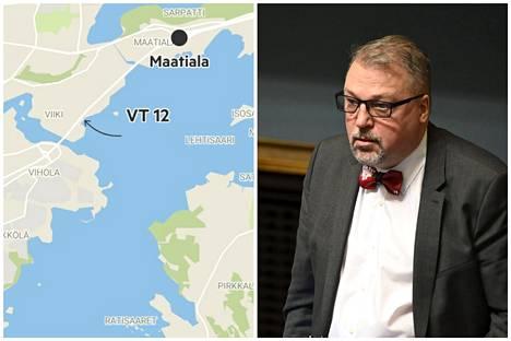 Kokoomuksen kansanedustaja Jari Kinnunen esittää, että moottoritietä tulisi jatkaa nelikaistaisena Maatialan liittymästä Kahtalammintielle saakka.