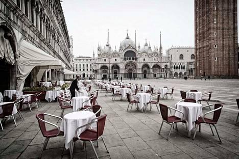 Venetsia on hiljentynyt koronaviruspandemian takia.