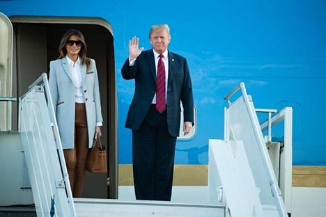 Melania Trump ja Donald Trump kävivät Suomessa heinäkuussa 2018.