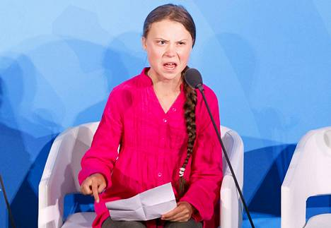 16-vuotias Greta Thunberg puhui maailman johtajille maanantaina YK:n ilmastohuippukokouksessa. Hän arvosteli kovin sanoin päättäjiä siitä, ettei ilmastotoimia ole tehty tarpeeksi.