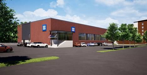 GoGon liikuntahalli valmistuu Lindforsinkadun varteen Hervannassa.