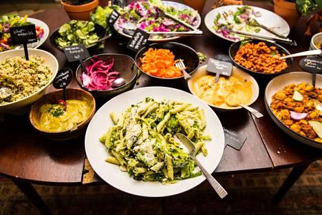 Tekstaripalstalla toivotaan vegaaniruokaa Kirjurinluodon valikoimiin.