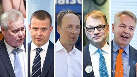 Sosiaalidemokraattien Antti Rinne, kokoomuksen Petteri Orpo, perussuomalaisten Jussi Halla-aho, keskustan Juha Sipilä ja vihreiden Pekka Haavisto vastasivat, millaista EU-linjaa he vetäisivät pääministerinä.