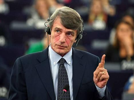 Italialainen David-Maria Sassoli valittiin keskiviikkona Euroopan parlamentin uudeksi puhemieheksi toiselle äänestyskierroksella.