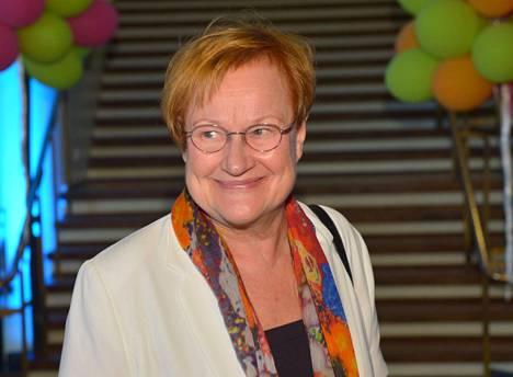 Presidentti Tarja Halonen keskustelee kirjapäivillä oikeudesta ja kohtuudesta sekä vääryydestä ja ahneudesta.