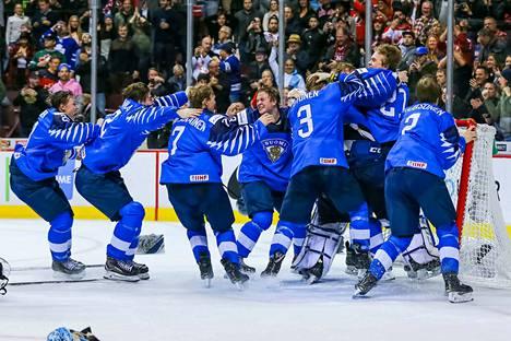 Suomi voitti alle 20-vuotiaiden miesten MM-kultaa tammikuussa 2019.