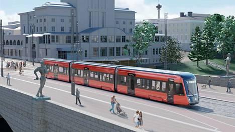 Tampereella on tehty ensimmäisiä koeajoja Saksasta tuodulla, käytetyllä, raitiovaunulla. Nyt kaupunkiin saapuu ensimmäinen oikeaan kaupunkiajoon tuleva vaunu.