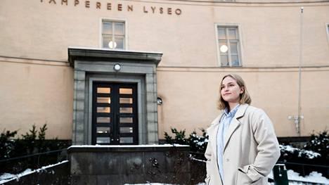 Noora Markkula opiskelee Tampereen lyseon lukiossa. Alin keskiarvo, jolla Relluun viime vuoden yhteishaussa pääsi, oli 8,79. Vain Tampereen yliopiston normaalikoulun lukion alin keskiarvo oli korkeampi.