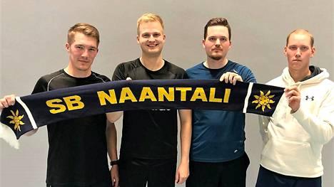 Ville Laine, Robin Mattila, Joona Valmunen ja Olli Kokkola ovat palanneet muista joukkueista SB Naantalin vahvistuksiksi.