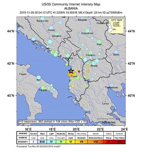 Järistys tuntui myös Italian puolella.