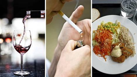 Tupakan ja alkoholin hinta nousee. Opiskelijoiden ateriatuki nousee, mikä alentaa opiskelijalounaan hintaa.