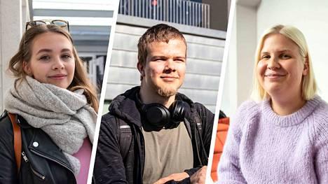Jenna Kenttälä, Leevi Heikkilä ja Sofia Keski-Nisula kertoivat Aamulehdelle rahankäytöstään.