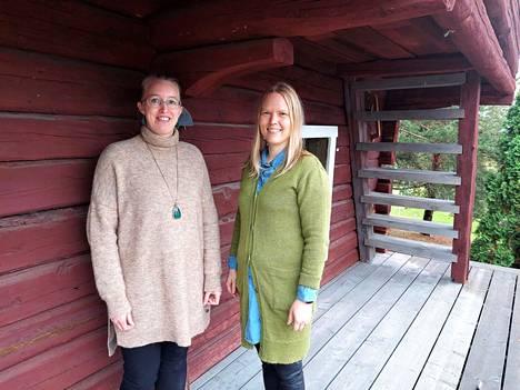 Laura Hällström ja Maaria Hartikainen sanovat, että apua kannattaa hakea lapsiperheen ongelmissa. Ratkaisu voi löytyä nopeastikin.