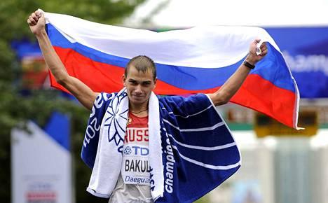 Sergei Bakulin käveli MM-kultaan Daegun MM-kisoissa vuonna 2011. Dopingkäryn myötä mitali vietiin häneltä.