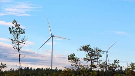 Marjakeitaan tuulivoimapuiston kaavoitustyöt käynnistetään Honkajoella. Kuva Jäneskeitaan tuulivoimapuistosta Siikaisista.
