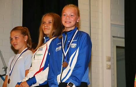 Helmi Karkiainen nappasi D14-sarjassa pronssin. Mitali oli hänelle KLL:n kisoista jo toinen, sillä viime vuonna hän sijoittui 11:nneksi Sipoossa järjestetyissä kisoissa.