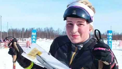 Vuoden 2015 keskimatkojen maailmanmestari, Keuruun Kisailijoiden Milka Reponen oli naisten pääsarjan neljäs Vimpelin talvirasteilla.