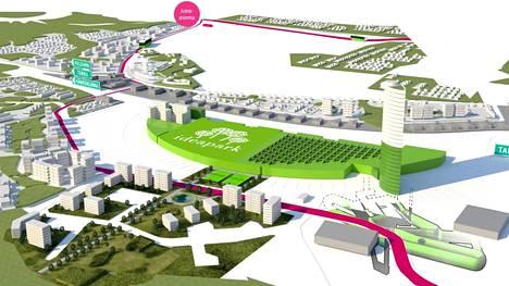 Aivan Ideaparkin kylkeen on suunniteltu rakennettavan asuinkerrostaloja.