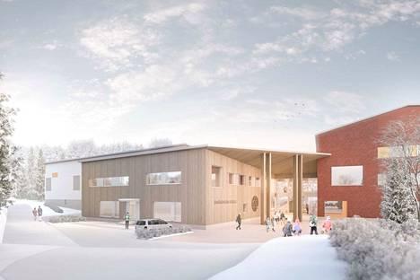 Emäkosken koulu rakennetaan noin 550 yläkoulun oppilaalle.