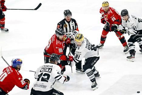 TPS:n kauden 2019–2020 viimeiseksi peliksi jäi vierasottelu Ässiä vastaan.