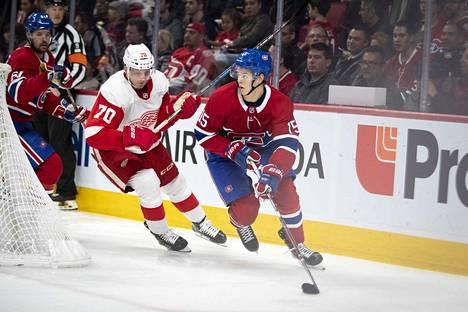 Jesperi Kotkaniemen (kuvassa) lisäksi Montrealissa pelaavat suomalaisista myös Joel Armia ja Artturi Lehkonen.