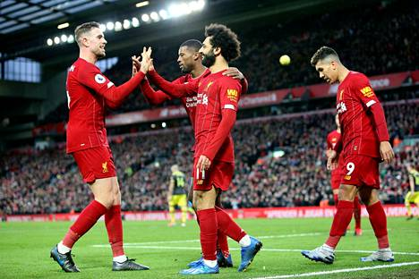Liverpoolilla menee lujaa.