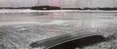 Kankaanpään Hapualla Karvianjoki tulvi jo toisen kerran tänä talvena yli äyräittensä. Esimerkiksi Karvian Kantissa vesi oli vieraillut talojen kellareissa.
