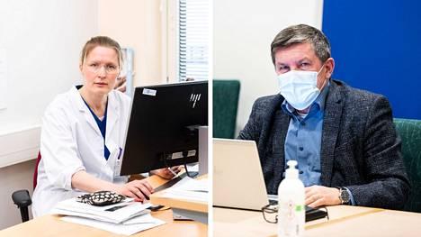 Koronanyrkki kertoi tiistaina Pirkanmaan koronavirustilanteesta, jäljitystyön tuloksista ja alueellisista suosituksista. Paikalla olivat muun muassa infektioyksikön apulaisylilääkäri Reetta Huttunenh ja johtajaylilääkäri Juhani Sand.