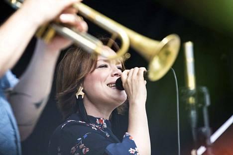Emma Salokoski & Ilmiliekki Quartet esiintyvät heinäkuussa Kirjazz & Blues -tapahtumassa. Arkistokuva.