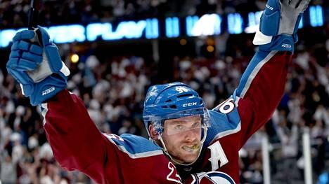 Mikko Rantanen sijoittui NHL:n pistepörssissä viime kaudella viidenneksi.