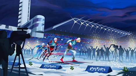 Kansainvälinen sprinttihiihtokilpailu järjestetään 26.1.2021.
