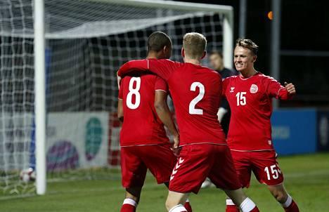 Nikolas Narteyn osuma riitti Tanskalle voittoon.